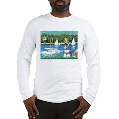 Sailboats /Min Schnauzer Long Sleeve T-Shirt