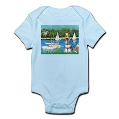 Sailboats /Min Schnauzer Infant Bodysuit