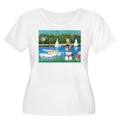 Sailboats /Min Schnauzer T-Shirt