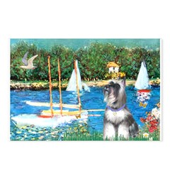Sailboats /Min Schnauzer Postcards (Package of 8)
