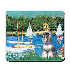 Sailboats /Min Schnauzer Mousepad