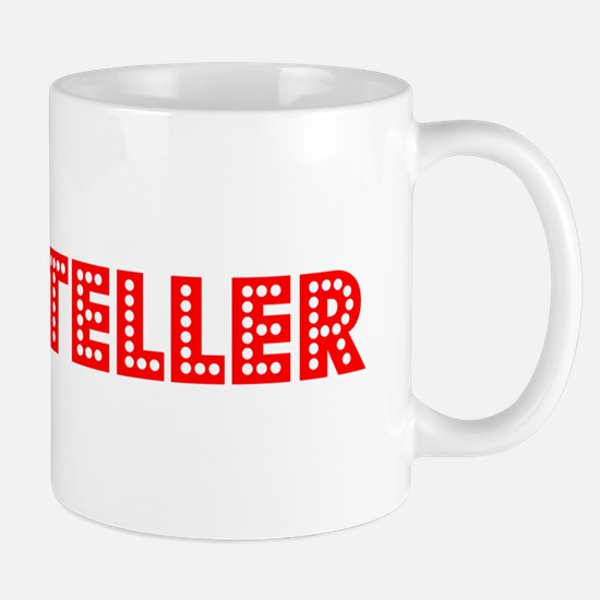 Retro Bank teller (Red) Mug