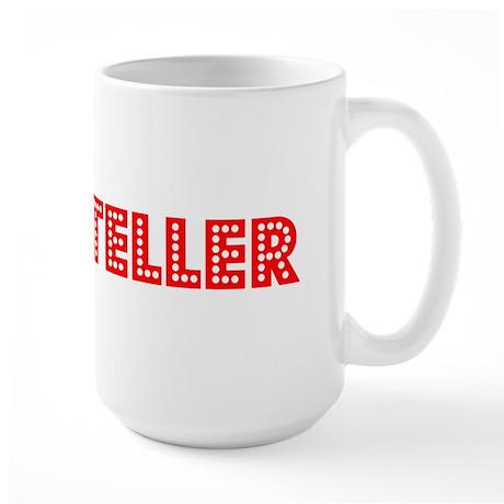 Retro Bank teller (Red) Large Mug