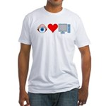 Eye Heart Computers Fitted T-Shirt