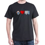 Eye Heart Computers Dark T-Shirt