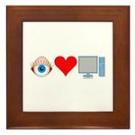 Eye Heart Computers Framed Tile
