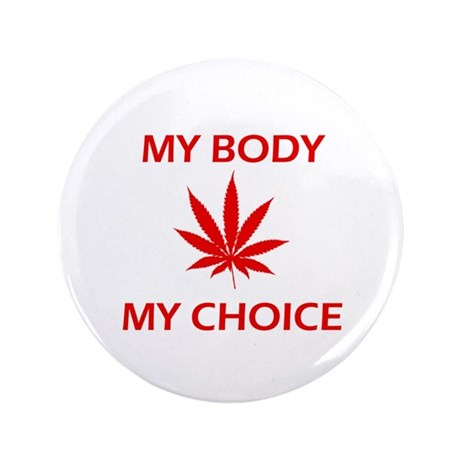 """Drug Choice 3.5"""" Button (100 pack)"""