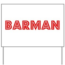 Retro Barman (Red) Yard Sign