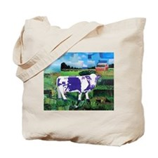 Cute Purple cow Tote Bag
