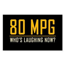 80 MPG Rectangle Decal