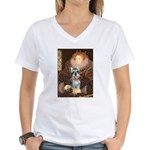 Elizabeth / Min Schnauzer Women's V-Neck T-Shirt