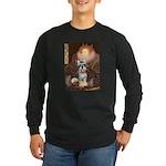 Elizabeth / Min Schnauzer Long Sleeve Dark T-Shirt