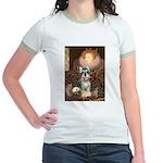 Elizabeth / Min Schnauzer Jr. Ringer T-Shirt