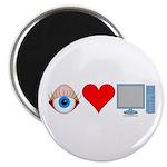 Eye Heart Computers Magnet