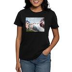 Creation / Schnauzer (#8) Women's Dark T-Shirt