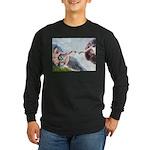 Creation / Schnauzer (#8) Long Sleeve Dark T-Shirt