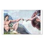 Creation / Schnauzer (#8) Sticker (Rectangle 50 pk