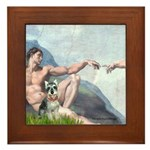 Creation / Schnauzer (#8) Framed Tile