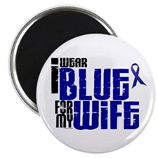 "I Wear Blue For My Wife 6 2.25"" Magnet (100 pack)"