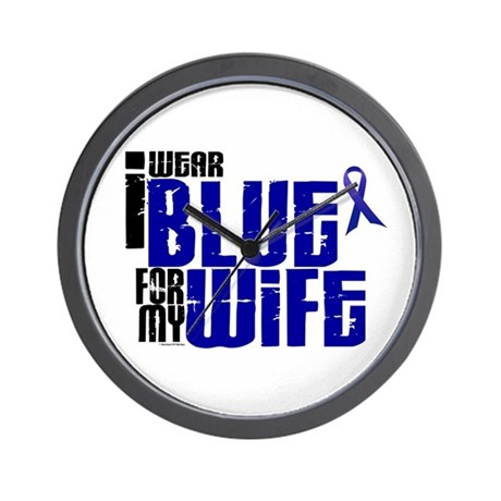 I Wear Blue For My Wife 6 Wall Clock