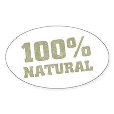 100% Natural Oval Decal