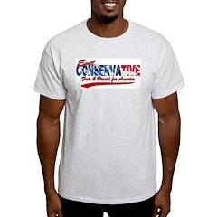 Evil Conservative Fair & Biased Ash Grey T-Shirt