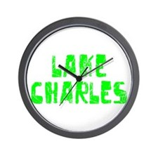 Lake Charles Faded (Green) Wall Clock