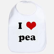I Love pea Bib