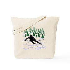 Ski Moguls Tote Bag
