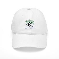 Ski Moguls Baseball Cap
