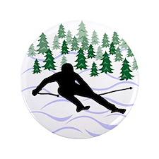 "Ski Moguls 3.5"" Button"