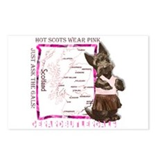 Hot Scots Wear Pink Postcards (Package of 8)