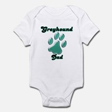 Dad Paw Teal Infant Bodysuit