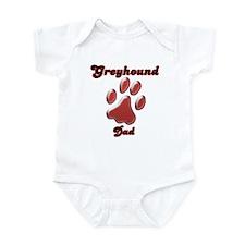 Dad Paw Red Infant Bodysuit