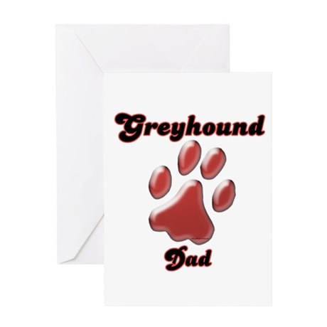 Dad Paw Red Greeting Card
