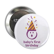 """""""Baby's First Birthday"""" 2.25"""" Butto"""