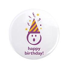"""""""Happy Birthday!"""" 3.5"""" Button"""