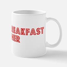 Retro Bed and Bre.. (Red) Mug