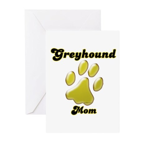 Mom Paw Gold Greeting Cards (Pk of 20)