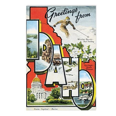 Idaho ID Postcards (Package of 8)