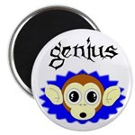 GENIUS MONKEY FACE Magnet