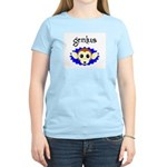 GENIUS MONKEY FACE Women's Pink T-Shirt
