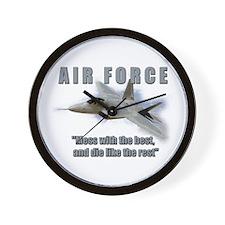 USAF F A-22 'Raptor' Wall Clock