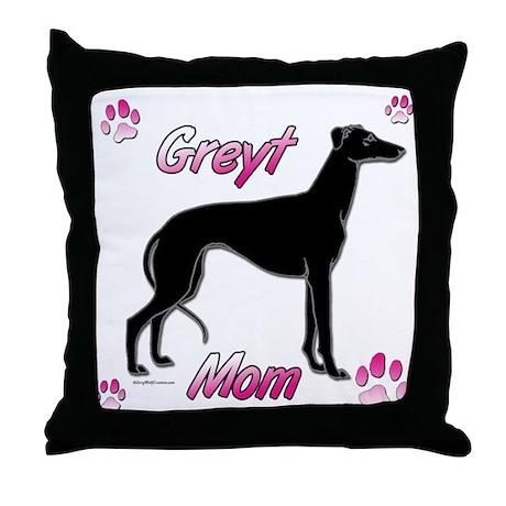 Greyt Mom Black Throw Pillow