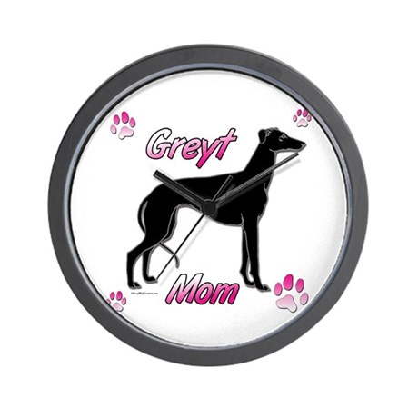 Greyt Mom Black Wall Clock