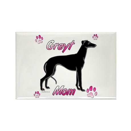 Greyt Mom Black Rectangle Magnet (10 pack)