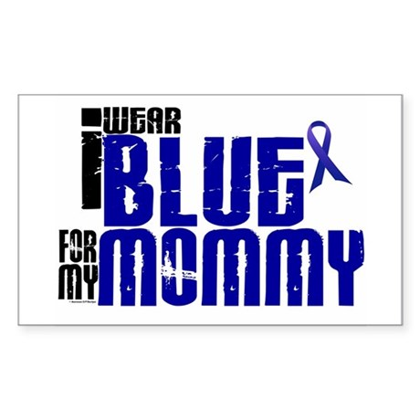 I Wear Blue For My Mommy 6 Rectangle Sticker