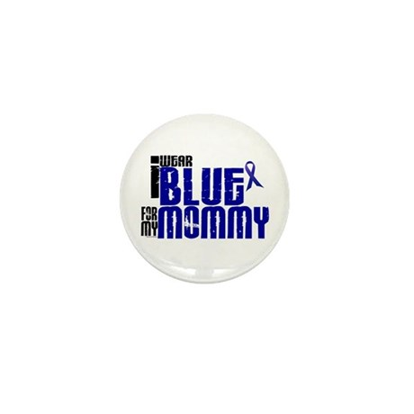 I Wear Blue For My Mommy 6 Mini Button (100 pack)