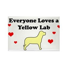 Everyone Loves A Yellow Lab Rectangle Magnet