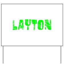 Layton Faded (Green) Yard Sign